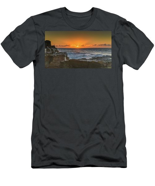 Sun Rising Over The Sea Men's T-Shirt (Athletic Fit)