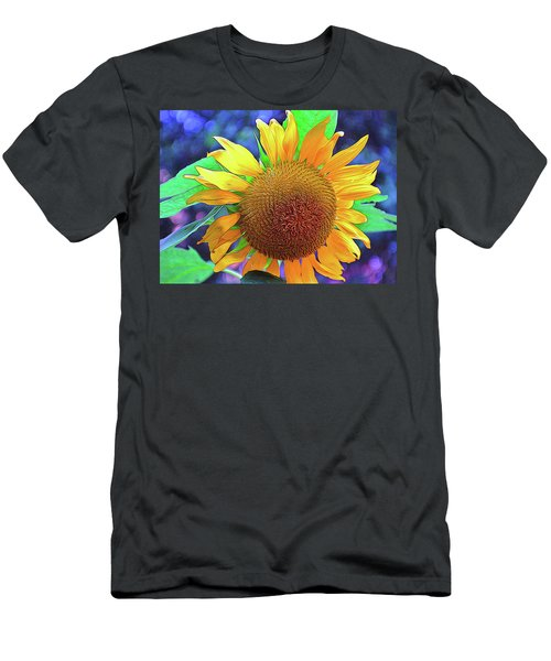 Men's T-Shirt (Slim Fit) featuring the photograph Sunflower by Allen Beatty