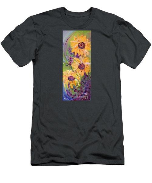 Sunflowers Men's T-Shirt (Slim Fit) by AmaS Art