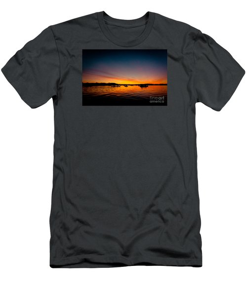 Sunrise Above Lake Water Summer Time Men's T-Shirt (Athletic Fit)