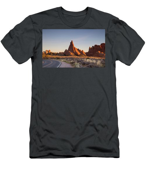 Sunrise In Arches National Park Men's T-Shirt (Athletic Fit)
