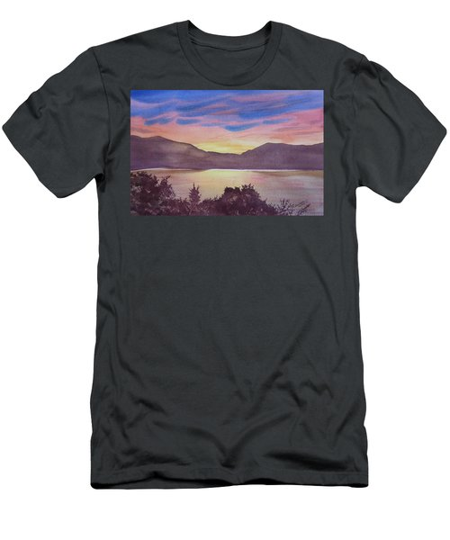 Men's T-Shirt (Athletic Fit) featuring the painting Sunset At Woodhead Campground by Joel Deutsch