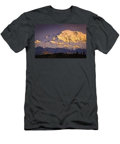 Sunset Glow On Mt. Mckinley, Denali Men's T-Shirt (Athletic Fit)
