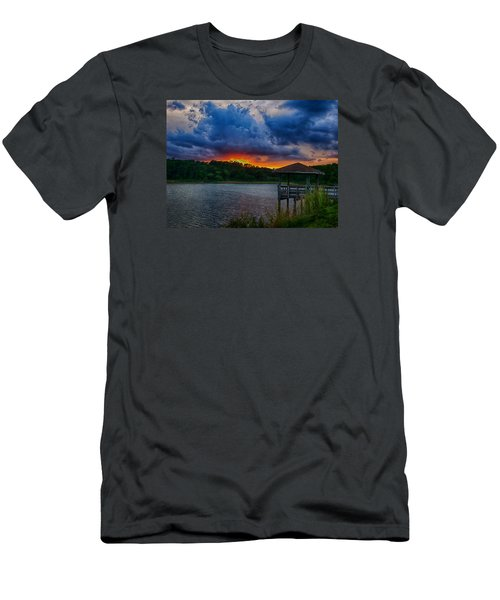 Men's T-Shirt (Athletic Fit) featuring the photograph Sunset Huntington Beach State Park by Bill Barber