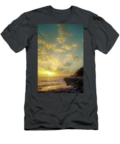 Men's T-Shirt (Slim Fit) featuring the photograph Sunset In The Coast by Carlos Caetano