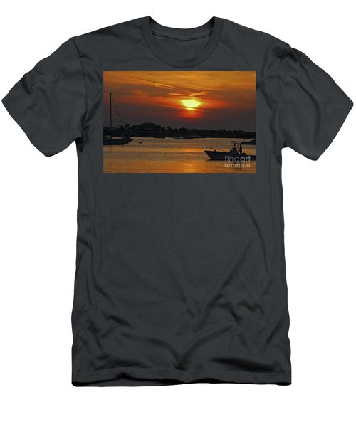 Men's T-Shirt (Slim Fit) featuring the photograph 1- Sunset Over The Intracoastal by Joseph Keane