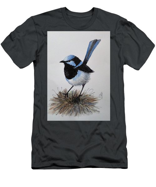 Superb Blue Wren Men's T-Shirt (Athletic Fit)