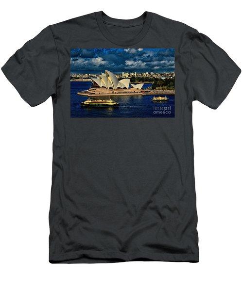 Sydney Opera House Australia Men's T-Shirt (Athletic Fit)
