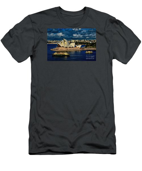 Sydney Opera House Australia Men's T-Shirt (Athletic Fit)