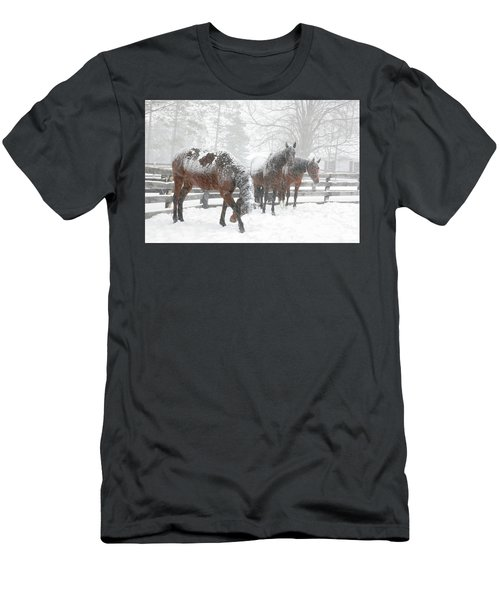 Tails To The Wind Men's T-Shirt (Slim Fit) by Gary Hall