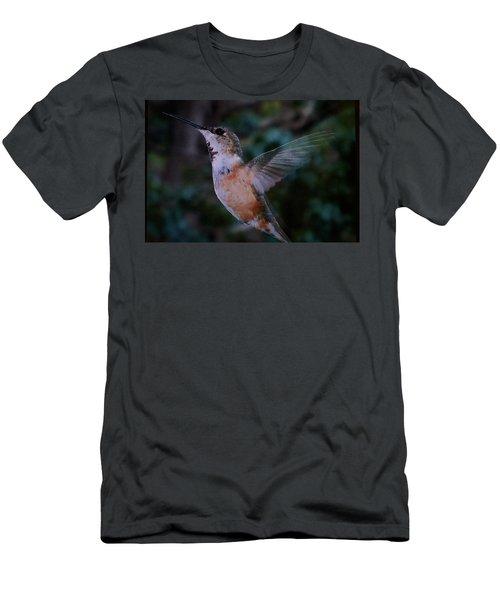 Tan Hummingbird Men's T-Shirt (Athletic Fit)