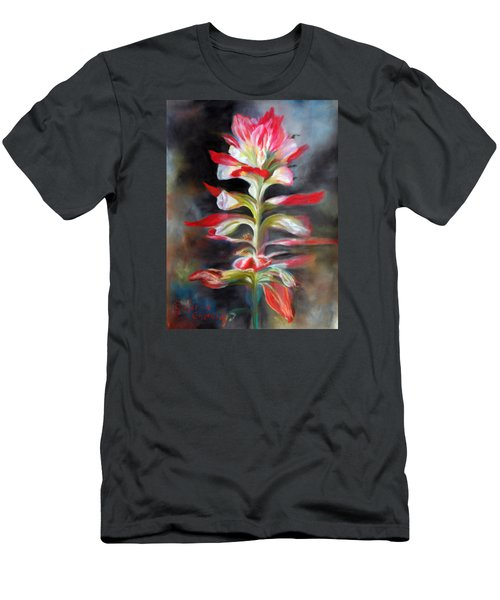 Texas Indian Paintbrush Men's T-Shirt (Slim Fit) by Karen Kennedy Chatham