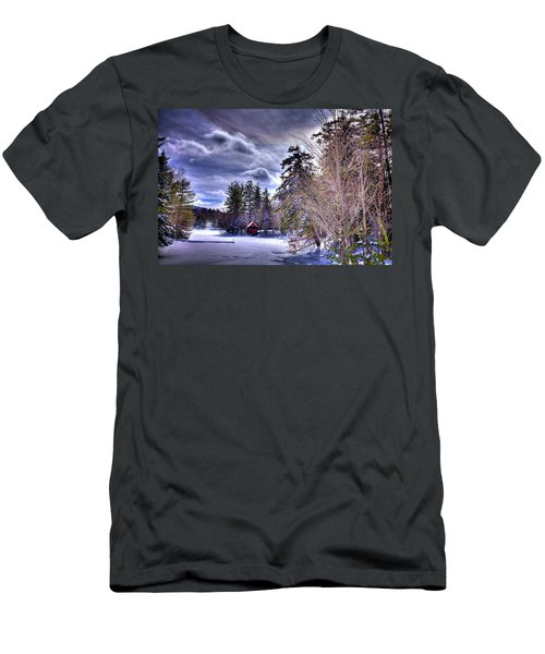 Men's T-Shirt (Slim Fit) featuring the photograph The Beaver Brook Boathouse by David Patterson