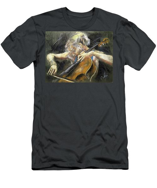 The Cellist Men's T-Shirt (Slim Fit) by Debora Cardaci