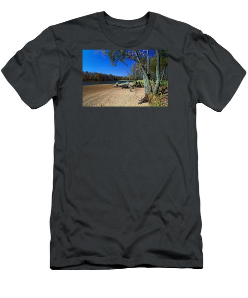 Men's T-Shirt (Slim Fit) featuring the photograph The End Of Summer by Judy  Johnson