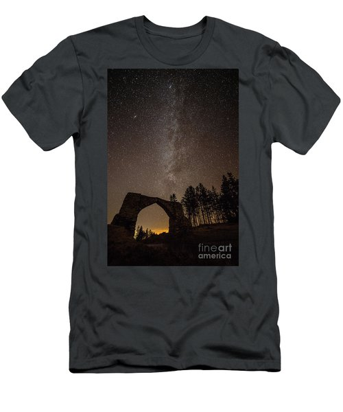 The Milky Way Over The Hafod Arch, Ceredigion Wales Uk Men's T-Shirt (Athletic Fit)
