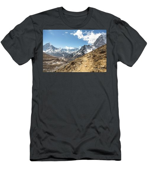 The Path To Cho La Pass In Nepal Men's T-Shirt (Athletic Fit)