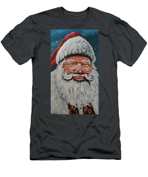 The Real Santa Men's T-Shirt (Slim Fit) by James Guentner