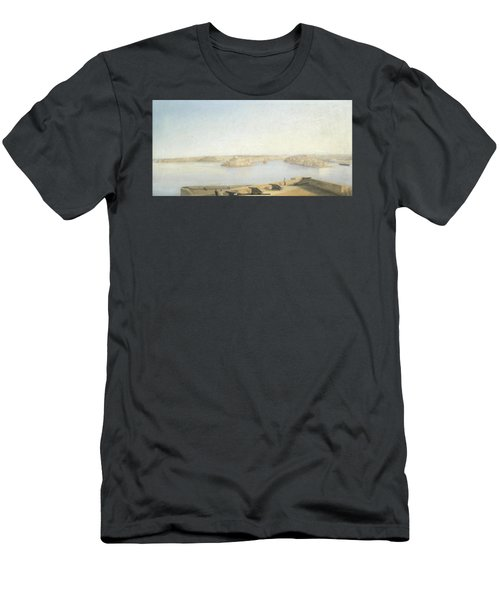 The Three Cities And The Grand Harbour Men's T-Shirt (Athletic Fit)