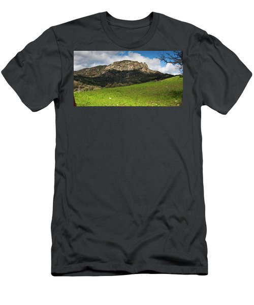 Men's T-Shirt (Slim Fit) featuring the photograph The Three Finger Mountain by Bruno Spagnolo