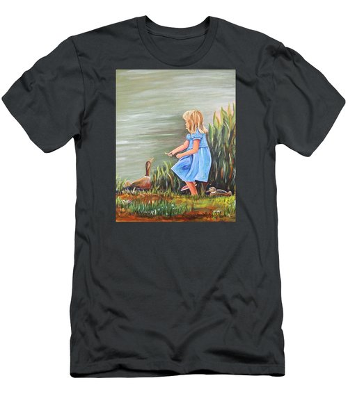 Tori And Her Ducks Men's T-Shirt (Slim Fit) by Patricia Piffath