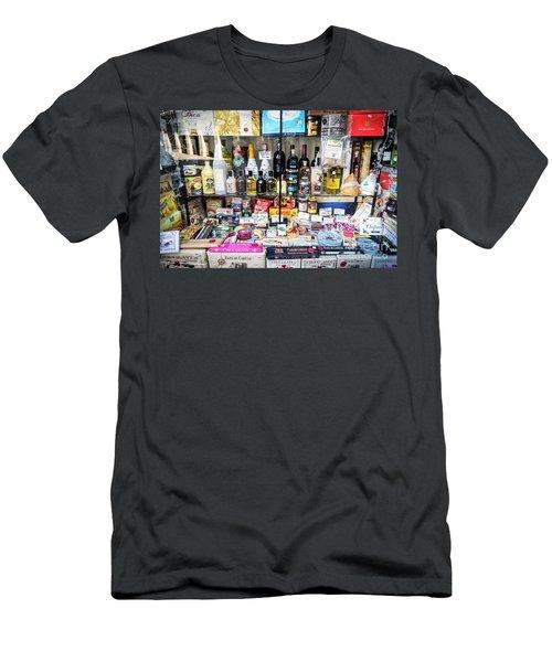 Traditional Spanish Deli Food Shop Display In Santiago De Compos Men's T-Shirt (Athletic Fit)