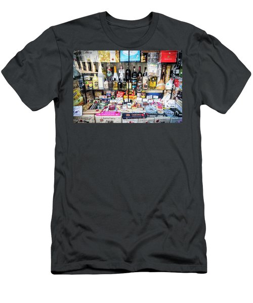 Traditional Spanish Deli Food Shop Display In Santiago De Compos Men's T-Shirt (Athletic Fit)