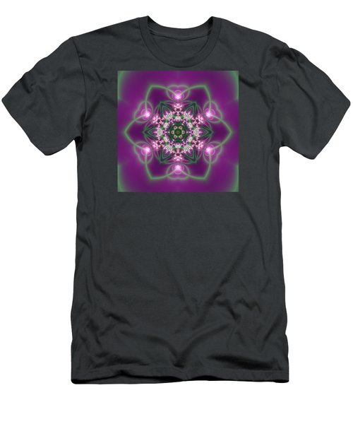 Men's T-Shirt (Athletic Fit) featuring the digital art Transition Flower 6 Beats 3 by Robert Thalmeier