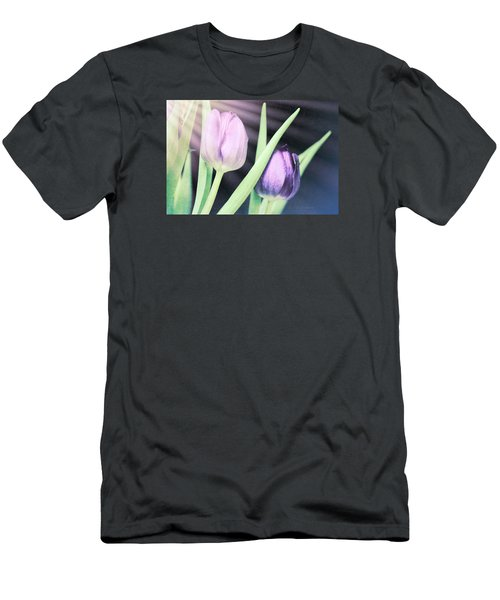 Tulips On Parade Men's T-Shirt (Slim Fit) by Bonnie Bruno