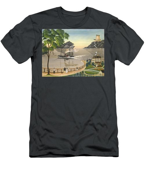 U S Mail Boat Men's T-Shirt (Athletic Fit)