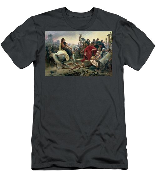 Vercingetorix Throws Down His Arms At The Feet Of Julius Caesar Men's T-Shirt (Athletic Fit)