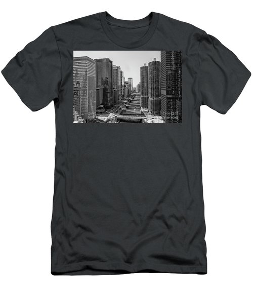 View On Chicago Bridges Men's T-Shirt (Athletic Fit)