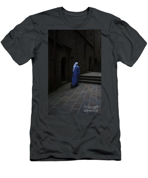 Walk Of Faith Men's T-Shirt (Slim Fit) by Therese Alcorn