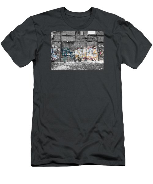 Warehouse In Lisbon Men's T-Shirt (Slim Fit) by Ehiji Etomi