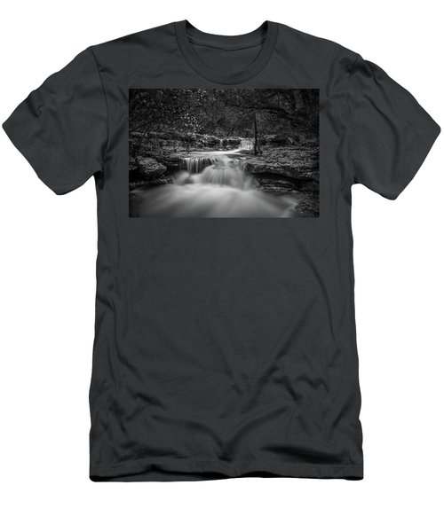 Waterfall In Austin Texas Men's T-Shirt (Athletic Fit)