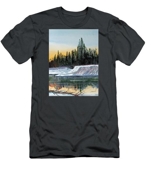 Winter Reflections Men's T-Shirt (Slim Fit) by Jack G  Brauer