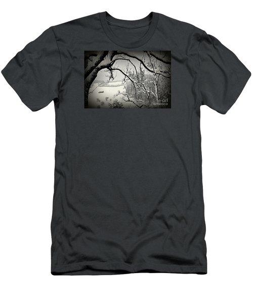 Men's T-Shirt (Slim Fit) featuring the photograph Winter Scene In Switzerland by Susanne Van Hulst