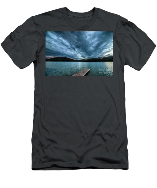 Men's T-Shirt (Slim Fit) featuring the photograph Winter Storm Clouds by Thomas R Fletcher