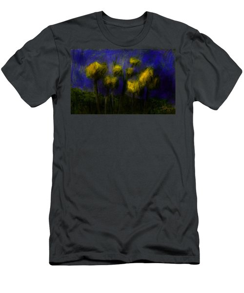 Men's T-Shirt (Athletic Fit) featuring the digital art Yellow Flowers by Jim Vance