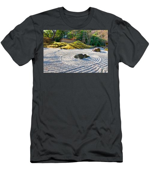 Zen Garden At A Sunny Morning Men's T-Shirt (Athletic Fit)