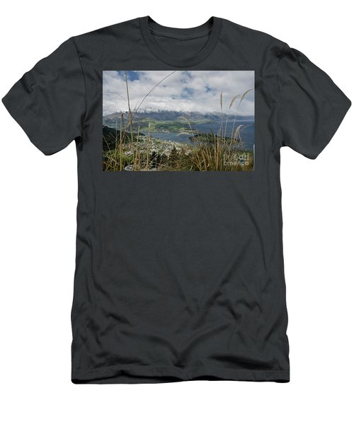 Queenstown New Zealand. Remarkable Ranges And Lake Wakatipu. Men's T-Shirt (Slim Fit) by Yurix Sardinelly