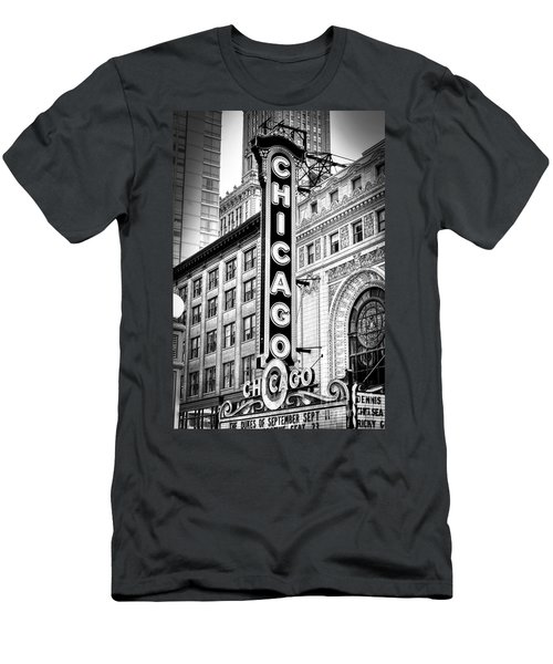 1077 Chicago Theater Black And White Men's T-Shirt (Athletic Fit)