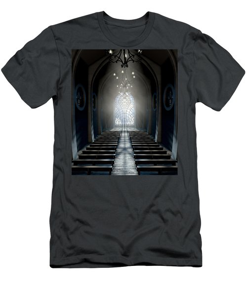 Stained Glass Window Church Men's T-Shirt (Athletic Fit)
