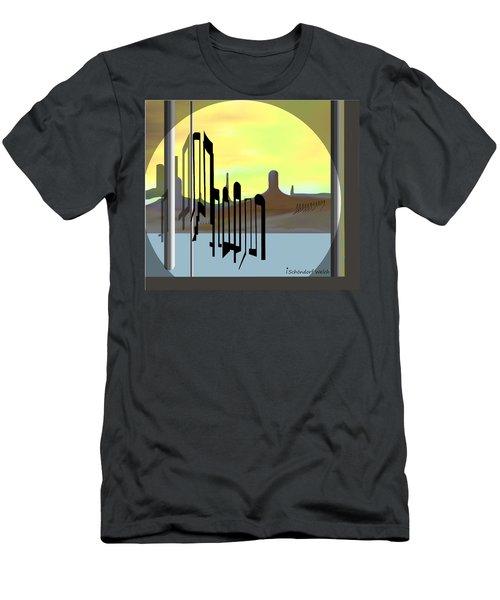 1254 - Memories Of A Strange Land  Men's T-Shirt (Athletic Fit)
