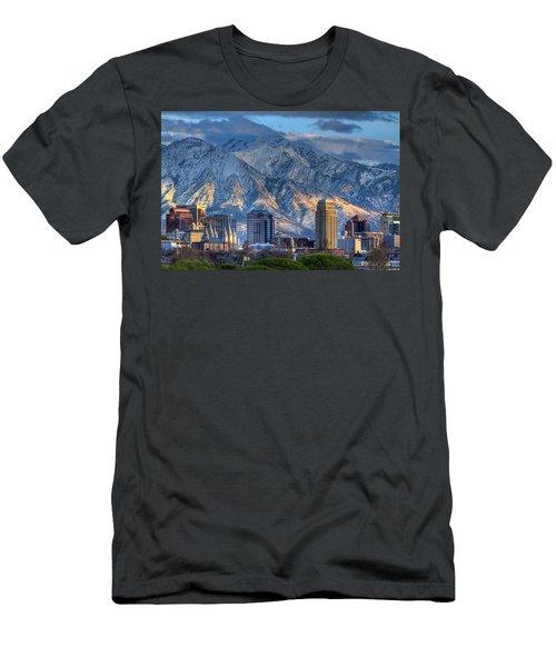 Salt Lake City Skyline Men's T-Shirt (Slim Fit) by Utah Images