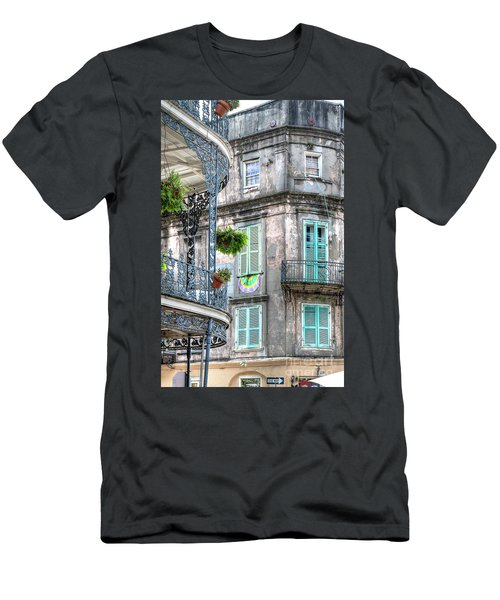 1358 French Quarter Balconies Men's T-Shirt (Athletic Fit)
