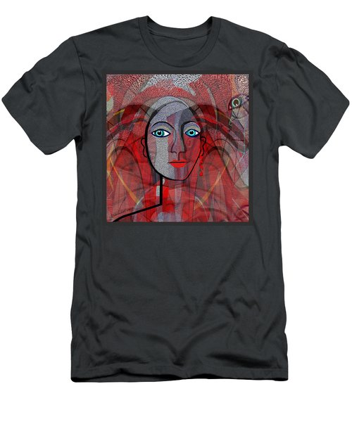 1459 Cubic Lady Face Men's T-Shirt (Slim Fit) by Irmgard Schoendorf Welch