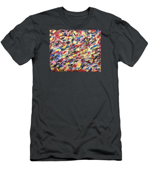 14k Gold Abstract Painting 48x60 Print Men's T-Shirt (Athletic Fit)