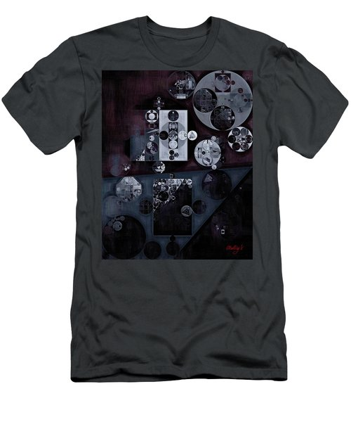 Abstract Painting - Smoky Black Men's T-Shirt (Athletic Fit)