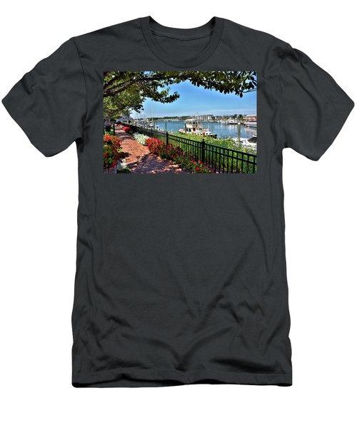 Men's T-Shirt (Slim Fit) featuring the photograph 1812 Memorial Park - Lewes Delaware by Brendan Reals